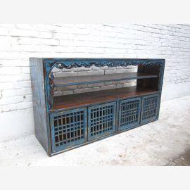 Chine minable commode chic et large plateau Buffet Buffet pin antique noir 80 annees