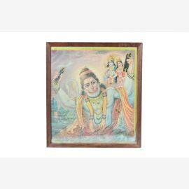 Indien1950 peinture avec Sita Rama Hanuman