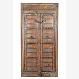 Armoire antique cassette de bois franc avant 1920 Rajasthan Luxury-Park