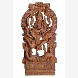 Grande maison autel Dieu indien Shiva avec Parvati