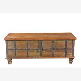 Poitrine table antique largeur banc bois utilisé Inde Luxury-Park