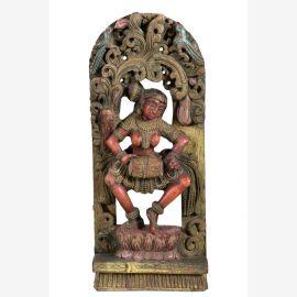 Statuette indienne en bois originale de Goa
