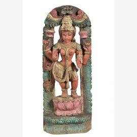 Statue indienne en teck faite à la main