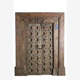 Porte antique indienne massive 130 ancienne