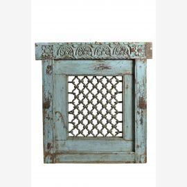 Vraie fenêtre indienne Jali en turquoise