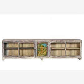 Inde 1910 300cm boutique comptoir vitrine shabby chic crédence 3m de long Gujarat