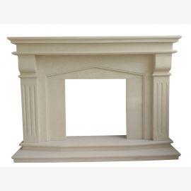 Cheminée en marbre classique taillée dans la pierre