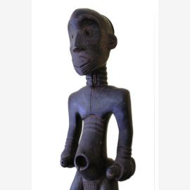Maître de Lulawa , moyen Congo , figure ancestrale, de bonne taille , environ 50-60 ans