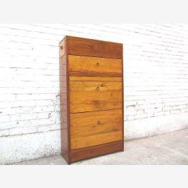 Asie Brown placard à chaussures tiroirs de couleur miel foncé Pine du corps