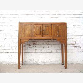 table La Chine Console Honey Brown