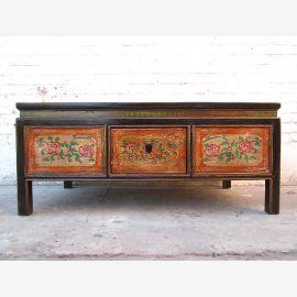 Asie base de table classique du pin peinture florale