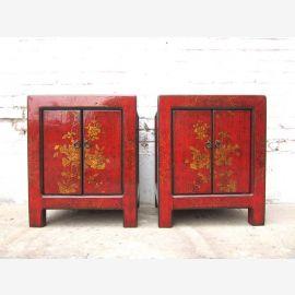 Chine 2 boîtes en rouge