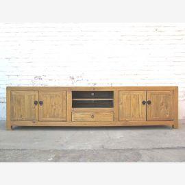 Asie très grande Lowboard TV commode pour le style écran plat chalet en bois clair antique vintage