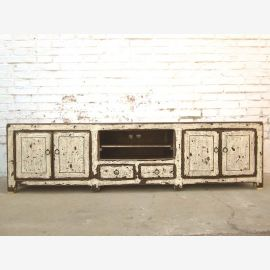 Chine TV commode Lowboard Flat Panel saleté blanche lourde shabby chic utilisé