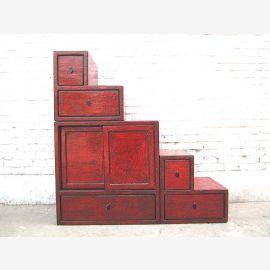 La Chine met en scène les tiroirs utilisés sur les deux côtés de pin rouge brun