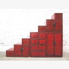 Asie Stairs Chest étages placard sous pentes bois marron classique utilisé optique lourde