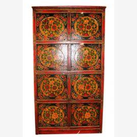 Chine Tibet 1910 de portes d'armoires hautes minces présentant une décoration classique