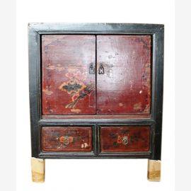 Chine 1890 poitrine de chevet tiroirs et les portes peint classique