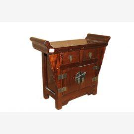 Chine polyvalent poitrine de meubles à tiroirs socle tabouret en bois massif sombre