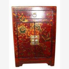 Chine simili cuir poitrine de chevet tiroirs et les portes