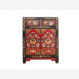 Tibet peint dans une commode joyeuse 120 ans
