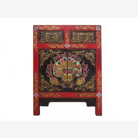 Commode Tibet 120 ans peint multicolore