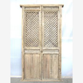Porte la haute Asie avec maille 221x104cm Decor antique 150 ans bois naturel