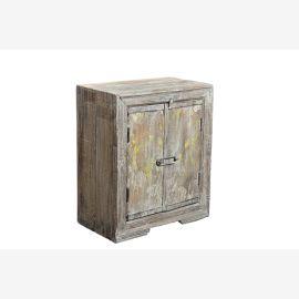 Antique table de chevet à double porte en bois de Prestige Inde Parc