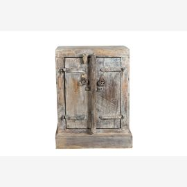 table de chevet à double porte en bois Inde 1935 Luxury-Park