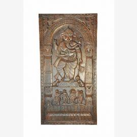 Ganesha Belle porte du panneau décoratif sculpté à la main à partir de l'Inde
