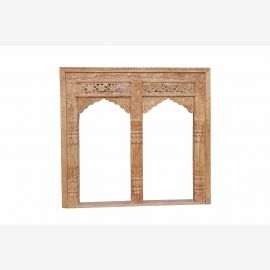 INDIA square shape double window FRAME curved FRAMEWORK nice carving D ED-11-29