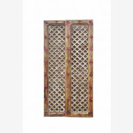 belle petite Framework art INDE bois de panneau de porte avec zigzag découpe D ED 11-35