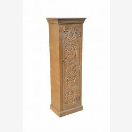 Beaux-arts INDE armoire haute armoire w Ganesha sculpture sur bois naturel D ED 11-52