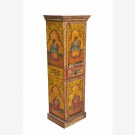 INDE armoire haute avec coloré art peinture Raja et Rani tribunal à D ED 11-54