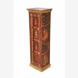 Gujarat Inde métal armoire garde-robe avec de la peinture Krishna roman D ED 11-55