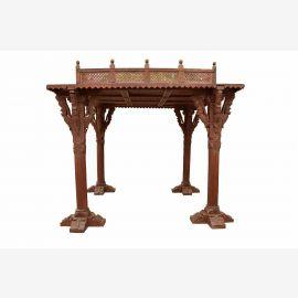 Inde 19 Century grand belvédère quatre piliers de bois sombre