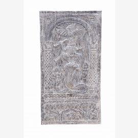 Inde du Sud sculpté massif panneau déesse de la danse murale