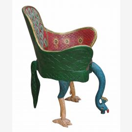 Inde absolument surréaliste chaise art de choc unique oiseau