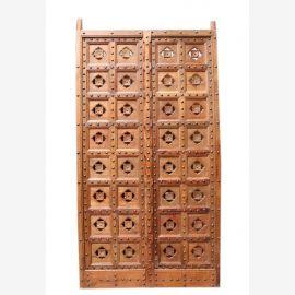 Inde portail sculpté porte sculptée sur les deux faces