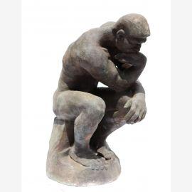 Sculpture La statue Penseur Auguste Rodin livide fonte