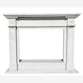 Cheminée en marbre, cheminée sur mesure en marbre massif K087