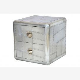 Meubles de commode aluminium recyclé avions deux tiroirs