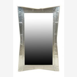 grand miroir poli cadre Airrange recyclage d'avion en aluminium