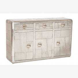 airrange Buffet tiroirs et portes en aluminium aéronautique recyclage