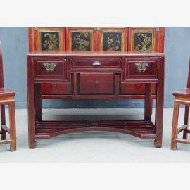 Chine 1930 Slim bureau de bureau brun foncé pin