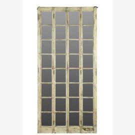 Indien Tuer Tor raumhoher Spiegel heller Holzrahmen gefertigt von antiker Türe