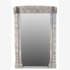 Indien großer Spiegel mächtiger Holzrahmen aus antikem Eingangstor Rahmen
