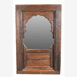 Indien herrlicher Spiegel breiter Holzrahmen ca. 1920 geschnitzt antik look Einrichtung