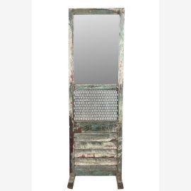 Indien hoher Spiegel Schminkspiegel Theater Einrichtung aus Holz und Metall shabby chic