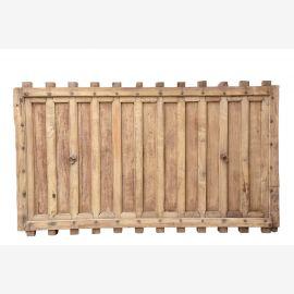 Porte en bois massif avec sculpture traditionnelle indienne en bois